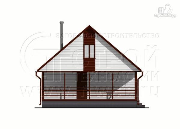 Фото 8: проект дом 6х8 м с мансардой и террасой 24 м2