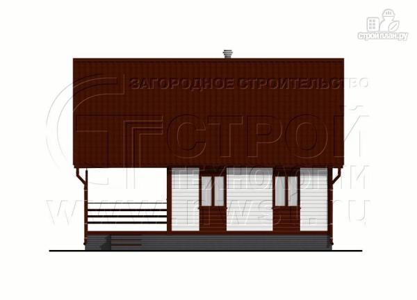Фото 9: проект дом 6х8 м с мансардой и террасой 24 м2