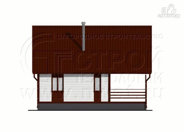 Фото 7: проект дом 6х8 м с мансардой и террасой 24 м2