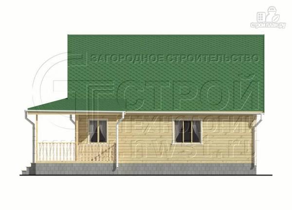 Фото 10: проект дачный дом 6х9 м с мансардой и Г-образной террасой