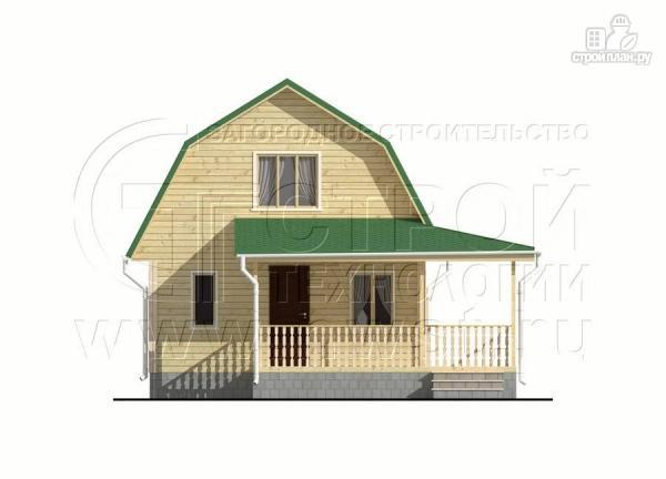 Фото 9: проект дачный дом 6х9 м с мансардой и Г-образной террасой