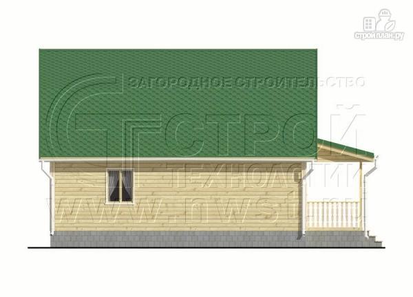 Фото 8: проект дачный дом 6х9 м с мансардой и Г-образной террасой