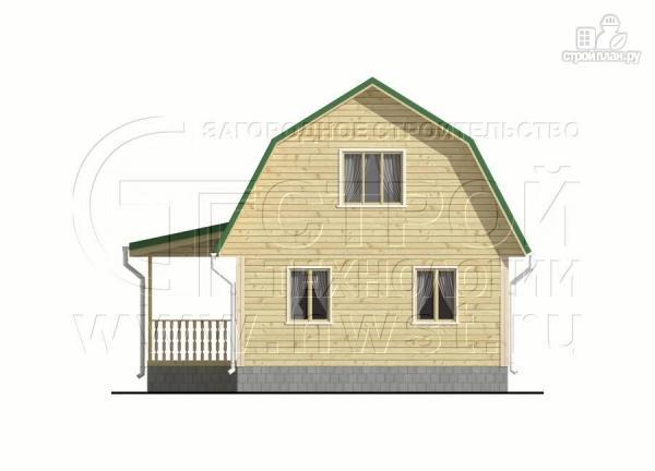 Фото 7: проект дачный дом 6х9 м с мансардой и Г-образной террасой