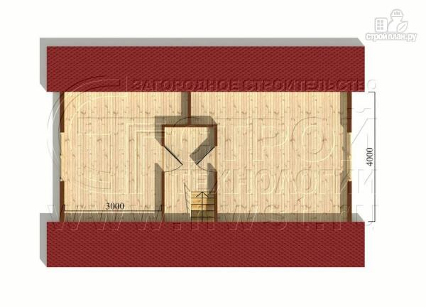 Фото 6: проект дачный дом 6х9 м с мансардой и Г-образной террасой