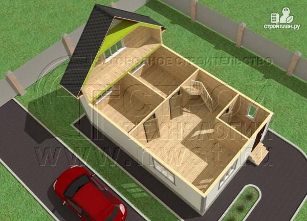 Фото 4: проект дачный дом 6х9 м полтора этажа