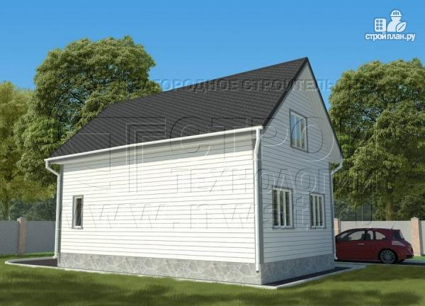 Фото 2: проект дачный дом 6х9 м полтора этажа