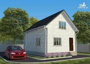 Фото: дачный дом 6х9 м полтора этажа