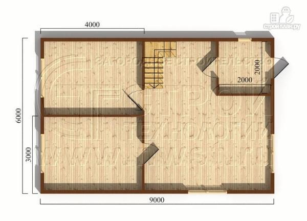 Фото 5: проект дачный дом 6х9 м полтора этажа