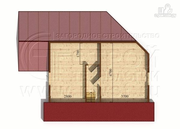 Фото 6: проект загородный дом 6х8 м с мансардой и Г-образной террасой