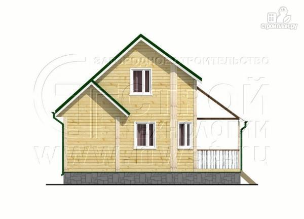 Фото 10: проект загородный дом 6х8 м с мансардой и Г-образной террасой