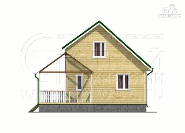 Фото 8: проект загородный дом 6х8 м с мансардой и Г-образной террасой