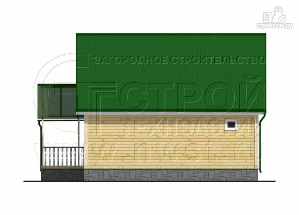 Фото 9: проект загородный дом 6х8 м с мансардой и Г-образной террасой