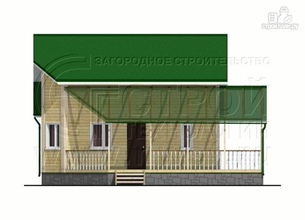 Фото 7: проект загородный дом 6х8 м с мансардой и Г-образной террасой