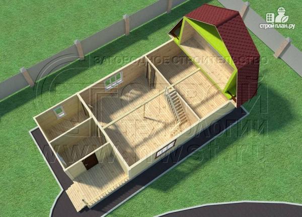 Фото 6: проект дачный дом 6х9 м из бруса