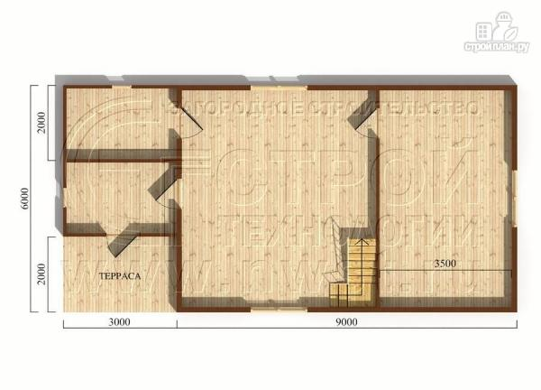 Фото 4: проект дачный дом 6х9 м из бруса