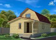 Фото: дачный дом 6х9 м из бруса