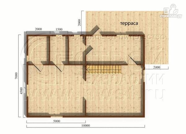 Фото 5: проект загородныйдом 7х10 м с Г-образной террасой 19 м2