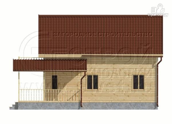 Фото 8: проект дачный дом 6х9 м полтора этажа с террасойибалконом