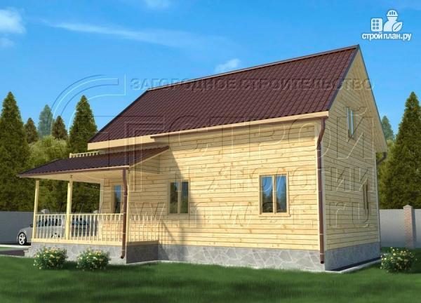 Фото 3: проект дачный дом 6х9 м полтора этажа с террасойибалконом