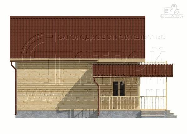 Фото 10: проект дачный дом 6х9 м полтора этажа с террасойибалконом