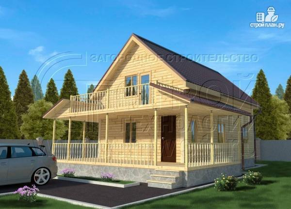Фото: проект дачный дом 6х9 м полтора этажа с террасойибалконом