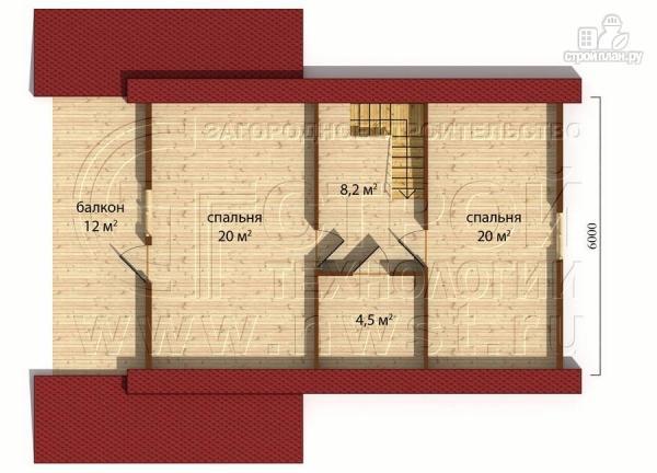 Фото 5: проект дачный дом 6х9 м полтора этажа с террасойибалконом