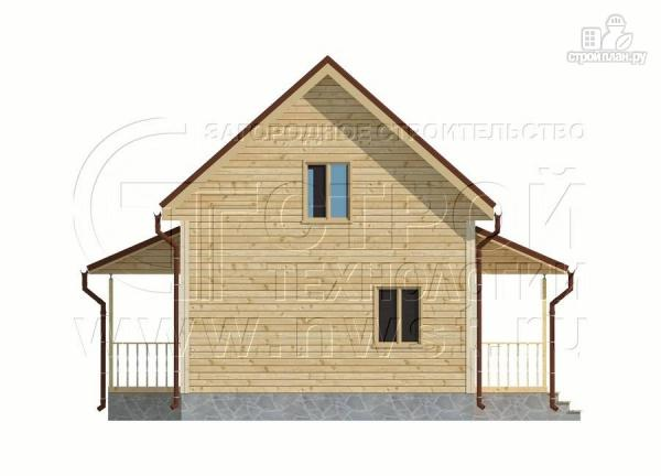 Фото 9: проект дачный дом 6х9 м полтора этажа с террасойибалконом