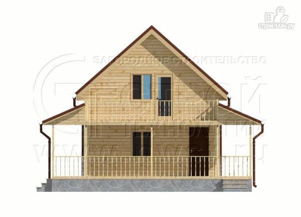 Фото 7: проект дачный дом 6х9 м полтора этажа с террасойибалконом
