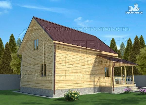 Фото 2: проект дачный дом 6х9 м полтора этажа с террасойибалконом