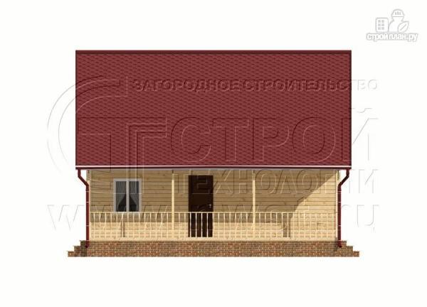 Фото 7: проект дачный дом 6х9 из бруса м с террасой