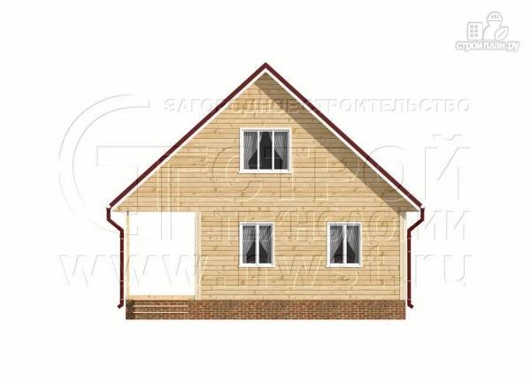 Фото 8: проект дачный дом 6х9 из бруса м с террасой
