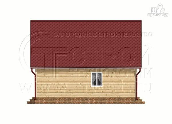 Фото 9: проект дачный дом 6х9 из бруса м с террасой