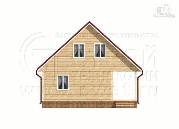 Фото 10: проект дачный дом 6х9 из бруса м с террасой