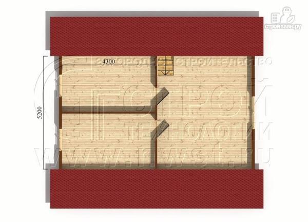 Фото 5: проект дачный дом 6х9 из бруса м с террасой