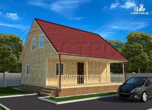 Фото: проект дачный дом 6х9 из бруса м с террасой