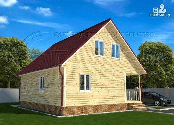Фото 3: проект дачный дом 6х9 из бруса м с террасой