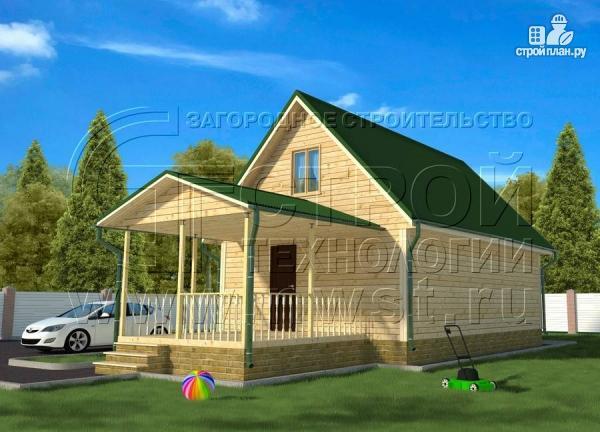 Фото: проект дачный дом 6х9 м с террасой 15 м2