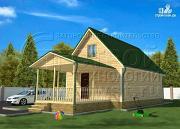 Фото: дачный дом 6х9 м с террасой 15 м2