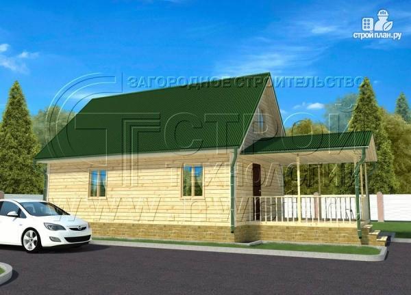 Фото 2: проект дачный дом 6х9 м с террасой 15 м2