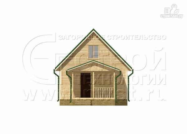 Фото 8: проект дачный дом 6х9 м с террасой 15 м2