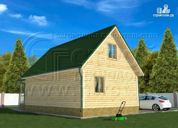 Фото 3: проект дачный дом 6х9 м с террасой 15 м2
