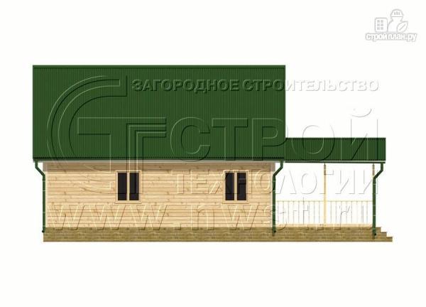 Фото 7: проект дачный дом 6х9 м с террасой 15 м2