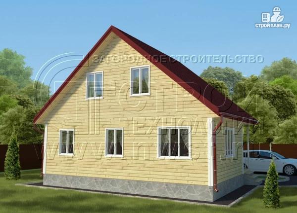 Фото 2: проект дачный дом 6х9 м с мансардой