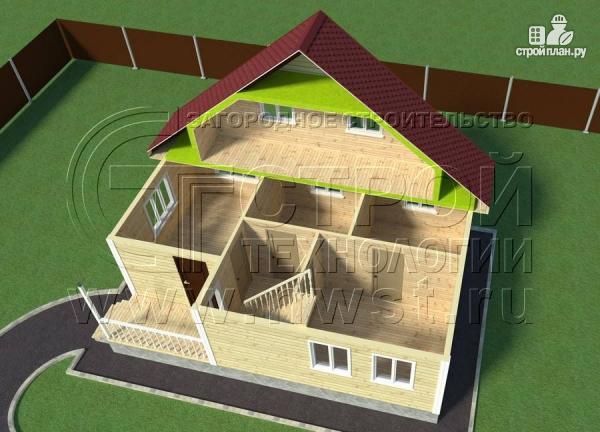 Фото 6: проект дачный дом 6х9 м с мансардой