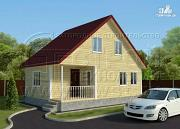 Проект дачный дом 6х9 м с мансардой