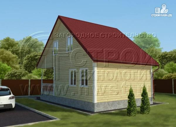 Фото 3: проект дачный дом 6х9 м с мансардой