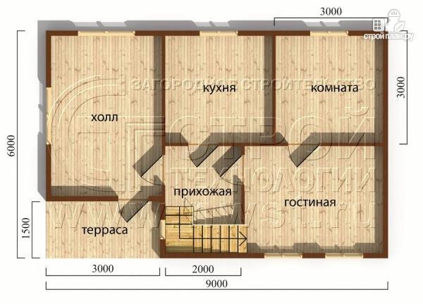 Фото 4: проект дачный дом 6х9 м с мансардой