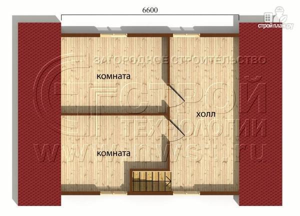 Фото 5: проект дачный дом 6х9 м с мансардой