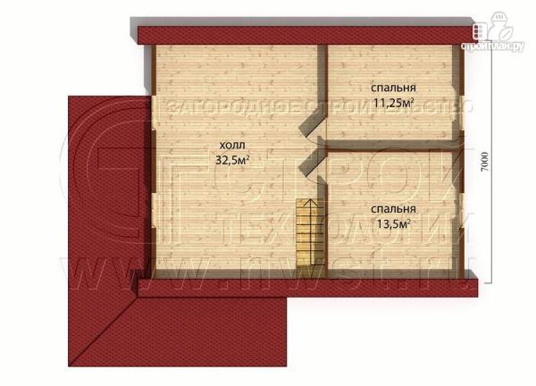 Фото 5: проект коттедж9х7 м полтора этажа с мансардой и террасой 21 м2