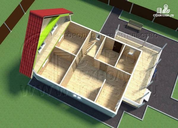 Фото 6: проект коттедж9х7 м полтора этажа с мансардой и террасой 21 м2
